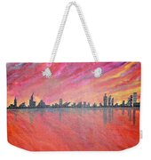 Urban Cityscapes In Twilight Weekender Tote Bag
