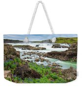 Urridafoss Waterfall And River Pjorsa In Iceland Weekender Tote Bag
