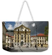 Ursuline Church Of The Holy Trinity With Marble Statues Of The H Weekender Tote Bag