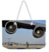 U.s. Air Force Crew Chief Performs Weekender Tote Bag