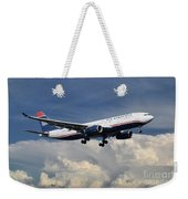 Us Airways A330-200 N280ay Weekender Tote Bag