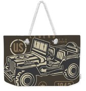 Us American Amry Jeep Weekender Tote Bag