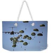 U.s. Army Paratroopers Jumping Weekender Tote Bag