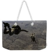 U.s. Army Soldiers Conduct A Halo Jump Weekender Tote Bag