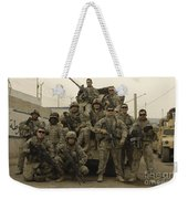 U.s. Army Soldiers Pose For A Photo Weekender Tote Bag