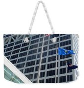 Us Bank With Flags Weekender Tote Bag