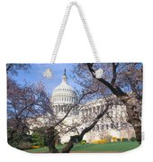 Us Capitol Building And Cherry Weekender Tote Bag