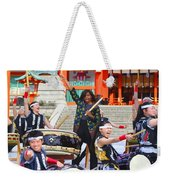 U.s. First Lady Michelle Obama  Plays The Taiko Drum  Weekender Tote Bag