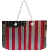 Us Flag At Whiteface Mountain Ny Weekender Tote Bag