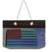 Us Flag On Wall Casa Grande Arizona 2004-2008 Weekender Tote Bag
