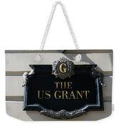 Us Grant Corner Plaque Weekender Tote Bag