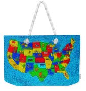 Us Map With Theme  - Special Finishing -  - Da Weekender Tote Bag