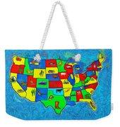 Us Map With Theme  - Van Gogh Style -  - Da Weekender Tote Bag