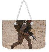 U.s. Marine Runs To The Uh-60 Black Weekender Tote Bag