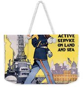 U.s. Marines Active Service On Land And Sea Weekender Tote Bag