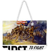 Us Marines - First To Fight In France Weekender Tote Bag