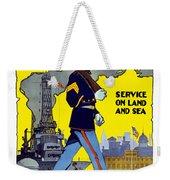 U.s. Marines - Service On Land And Sea Weekender Tote Bag