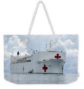 U.s. Naval Hospital Ship Usns Mercy Weekender Tote Bag
