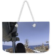 U.s. Navy Petty Officer Leans Weekender Tote Bag