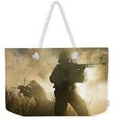 U.s. Navy Seals During A Combat Scene Weekender Tote Bag by Tom Weber