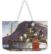 U.s. Navy Travel Poster Weekender Tote Bag