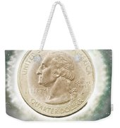Us One Quarter Dollar Coin 25 Cents Weekender Tote Bag