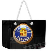 Us Route 66 Cadillac Service Globe Sc Weekender Tote Bag