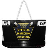 Us Route 66 Smaterjax Dwight Il Official Inspection Signage Weekender Tote Bag
