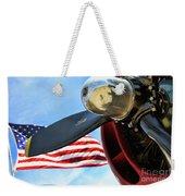 Usa Flag Bomber Wwii  Weekender Tote Bag