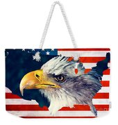 Usa Flag Eagle Weekender Tote Bag
