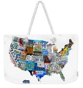 Usa License Plates Map 4p Weekender Tote Bag