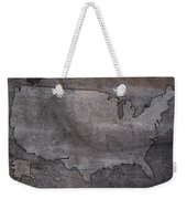 Usa Map Outline On Concrete Wall Slab Weekender Tote Bag