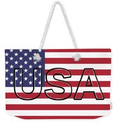 Usa On The American Flag Weekender Tote Bag