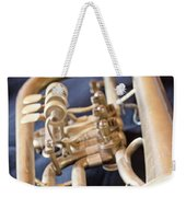 Used Old Trumpet. Vertically. Weekender Tote Bag
