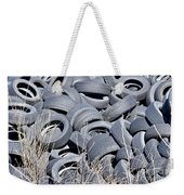 Used Tires At Junk Yard Weekender Tote Bag