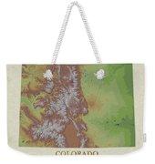 Usgs Map Of Colorado Weekender Tote Bag