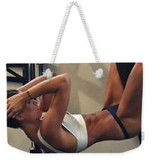 Using Crazy Loss Products Weekender Tote Bag