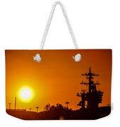 Uss Carl Vinson At Sunset 3 Weekender Tote Bag