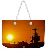 Uss Carl Vinson At Sunset 3 Weekender Tote Bag
