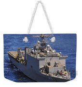 Uss Comstock Leads A Convoy Of Ships Weekender Tote Bag