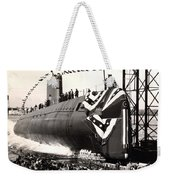 Uss Nautilus Slips Into The Thames Weekender Tote Bag