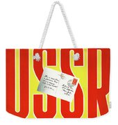 Ussr Vintage Cruise Travel Poster Restored Weekender Tote Bag