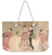 Utagawa Toyokuni I    Courtesans And Attendants Playing In The Snow Weekender Tote Bag