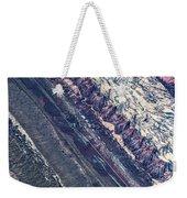 Utah Mountains High Altitiude Aerial Photo Weekender Tote Bag