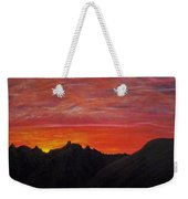 Utah Sunset Weekender Tote Bag by Michael Cuozzo