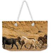 Ute Mountain Wild Horses On The Run Weekender Tote Bag