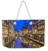 Utrecht From The Bridge By Night Weekender Tote Bag