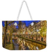 Utrecht Old Canal By Night Weekender Tote Bag
