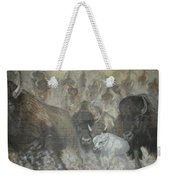 Uttc - Buffalo Mural Left Panel Weekender Tote Bag