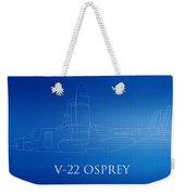 V-22 Osprey Blueprint Weekender Tote Bag